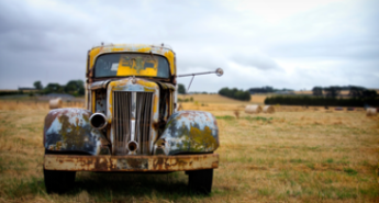 Image of an old truck for colour matching for Allard Paint Distributors