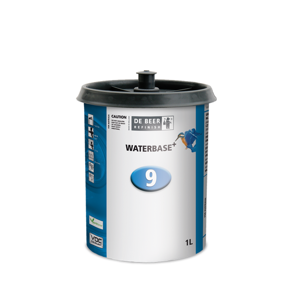 Image of a plastic container of De Beer Waterbase 900 Series