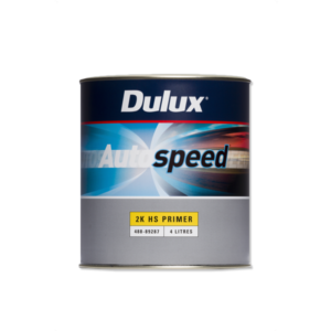 Image of a tin of a Dulux Autospeed 2K HS Primer 4 Litre