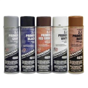 Image of group of Transtar 2 in 1 primer aeresol cans