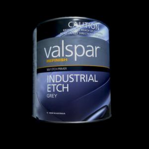 Image of  a tin of Valspar Refinish etch primer 4 Litre