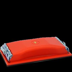 image of orange half sheet sanding block