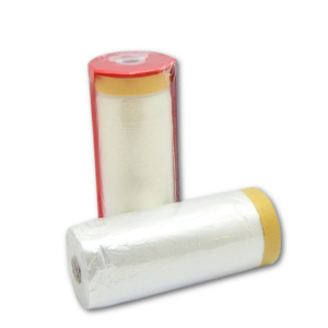 image of pre-taped masking film roll