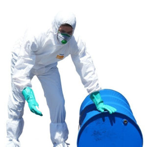 image of man wearing proval hazguard coveralls