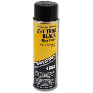 image of transtar 2in1 trim black spray can in gloss